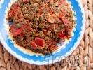 Рецепта Комбос - ястие с лапад, яйца и сушени чушки